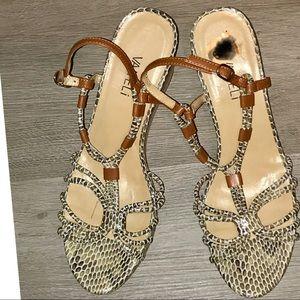Vaneli cork platform sandal